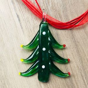New Murano like Christmas tree pendant/necklace